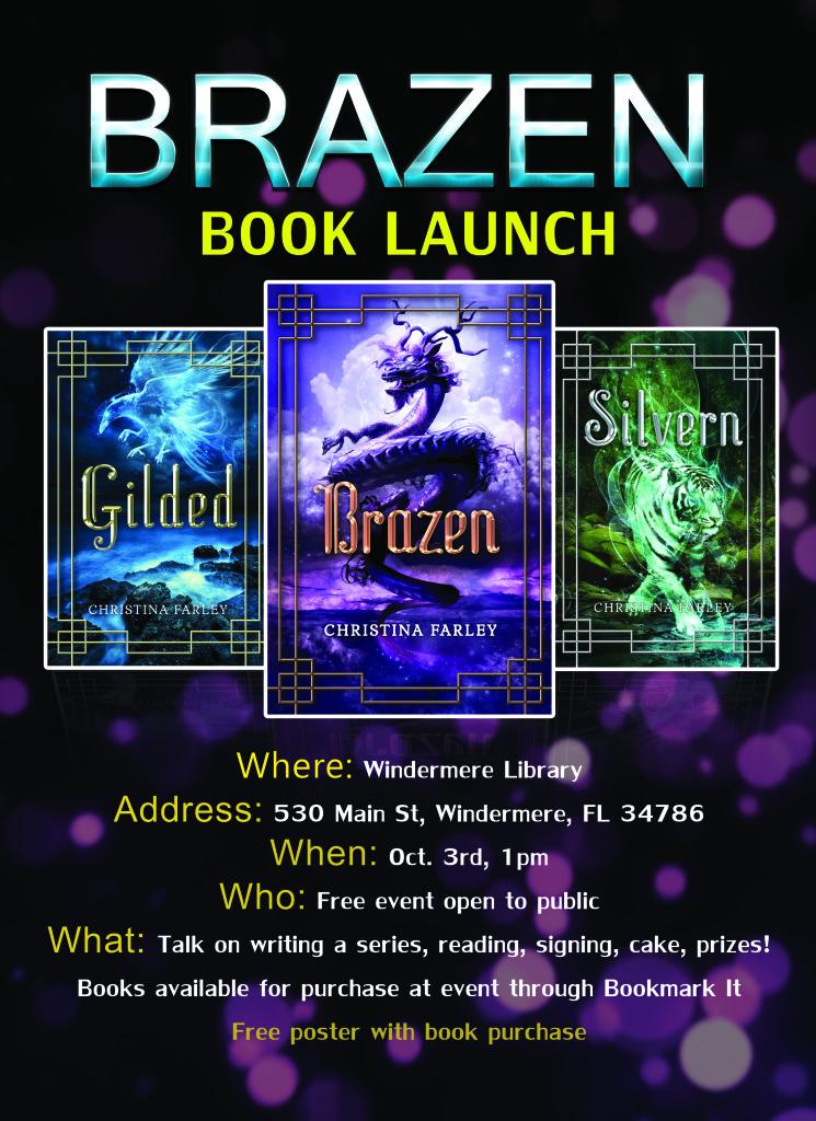 Brazen Book Launch Poster1